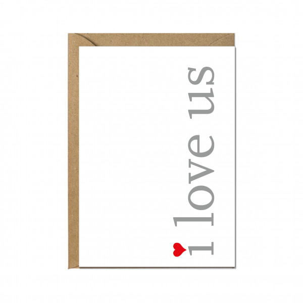 Faltkarte hoch, I LOVE US