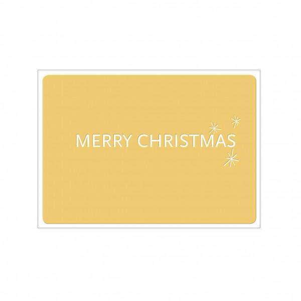 Postkarte quer, MERRY CHRISTMAS mit Heißfolie veredelt