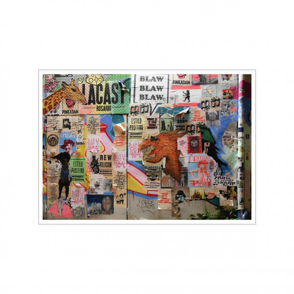 Postkarte quer, Streetart, BLAW BLAW BLAW