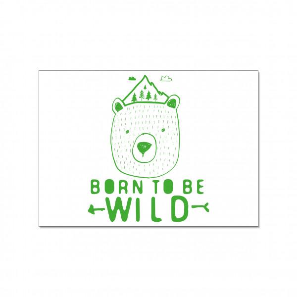Postkarte quer, BORN TO BE WILD