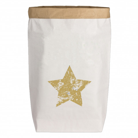 Paperbags Large weiss, STERN, gold