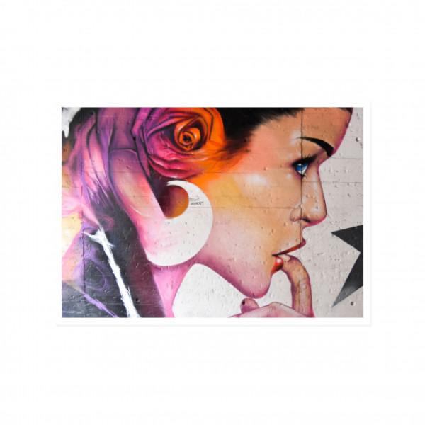 Postkarte quer, Streetart, LICK IT - TECHNO VERBINDET