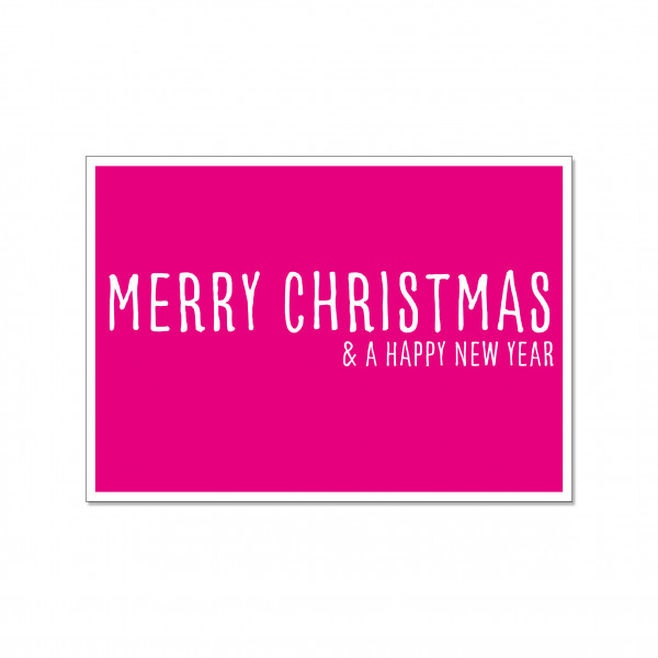 Postkarte quer, MERRY CHRISTMAS & A HAPPY NEW YEAR
