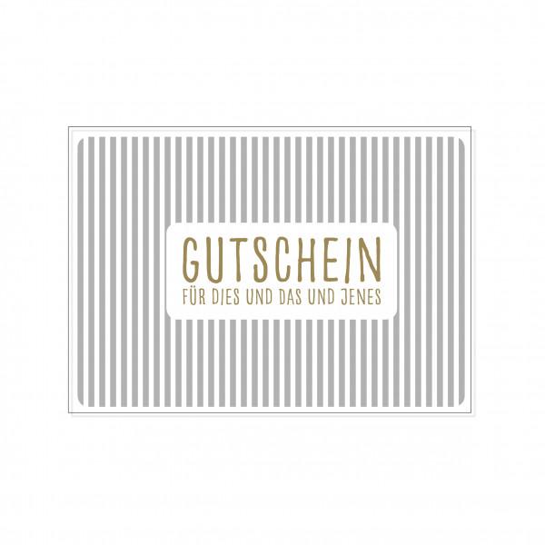 Postkarte quer, GUTSCHEIN FÜR DIES UND DAS UND JENES