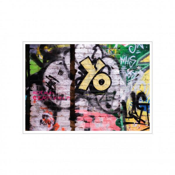 Postkarte quer, Streetart, YO