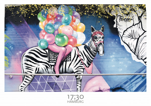 Poster A3 (29,7 x 42cm), BALLOON ZEBRA