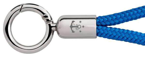 Schlüsselband Skipper (Ø 6MM) S, Tampen STARKWINDBLAU