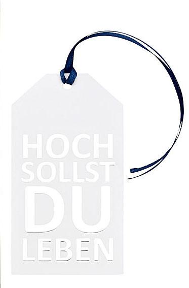 Set mit 3 Geschenkanhänger, HOCH SOLLST DU LEBEN