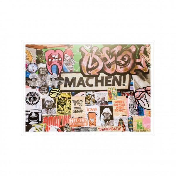 Postkarte quer, Streetart, MACHEN!