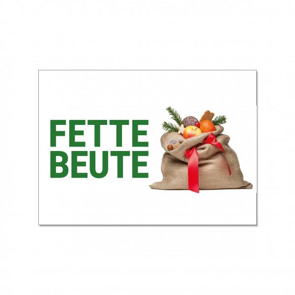 Postkarte quer, FETTE BEUTE