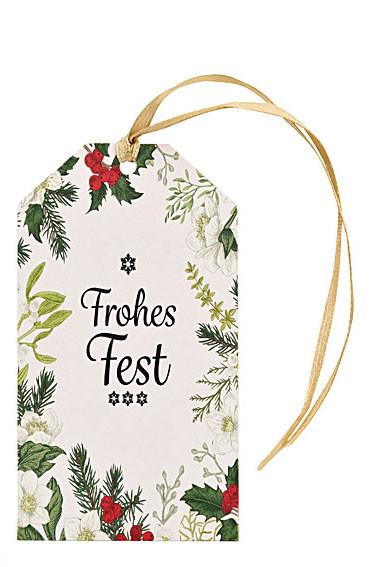 Set mit 3 Geschenkanhänger, FROHES FEST