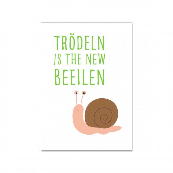 Postkarte hoch, TRÖDELN IS THE NEW BEEILEN