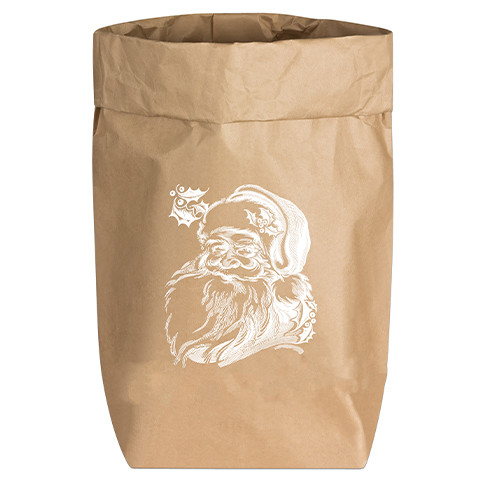 Paperbags Small natur, WEIHNACHTSMANN, weiss