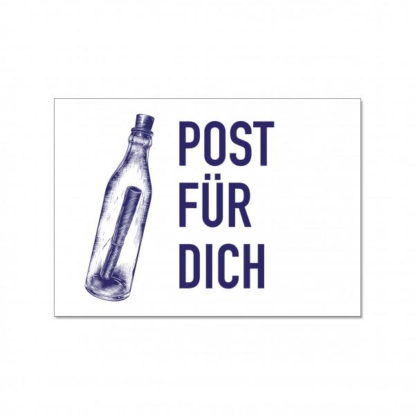Postkarte quer, POST FÜR DICH
