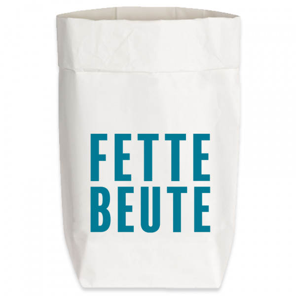 Paperbags Small weiss, FETTE BEUTE, türkis