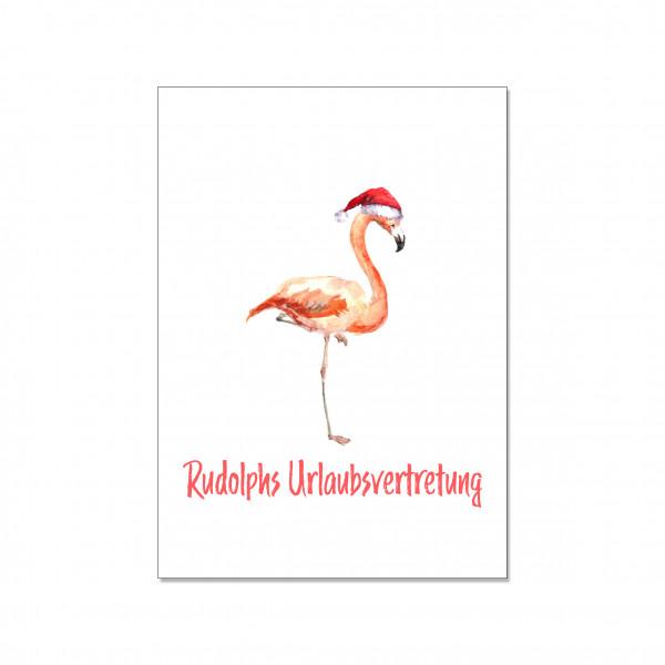 Postkarte hoch, RUDOLPHS URLAUBSVERTRETUNG