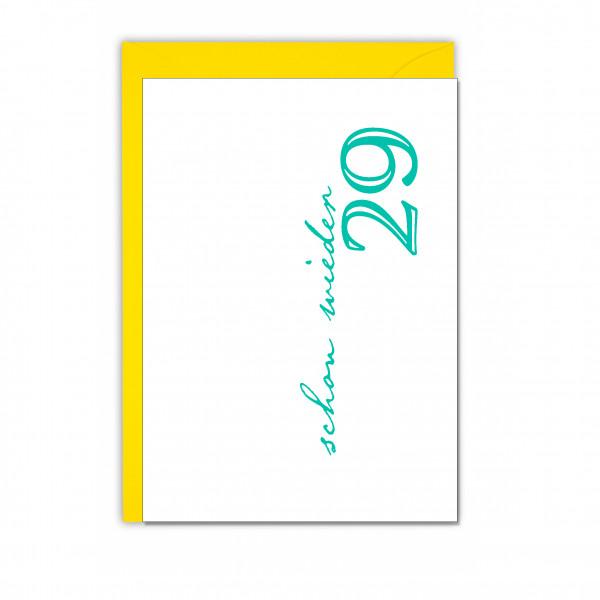 Faltkarte quer, SCHON WIEDER 29, lichtgrün