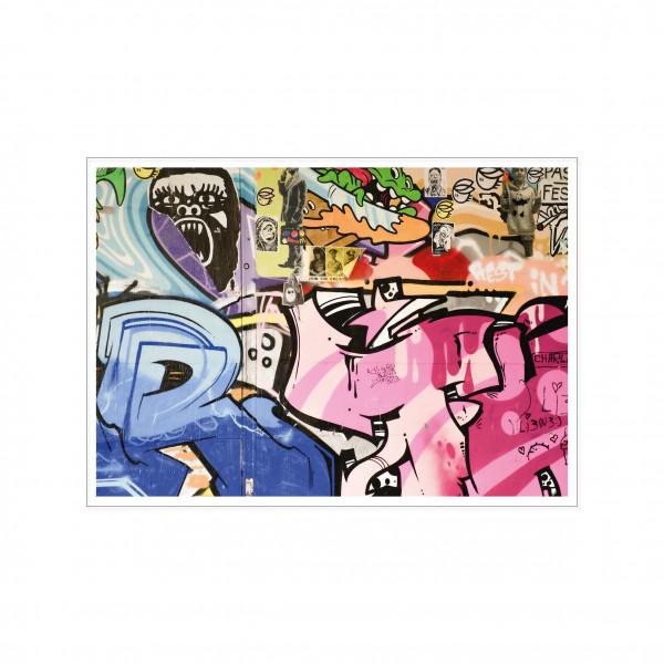 Postkarte quer, Streetart, GRAFFITI