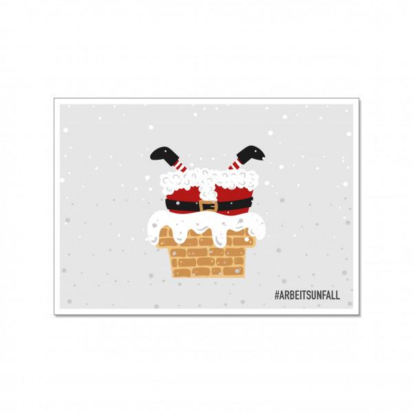 Postkarte quer, #ARBEITSUNFALL