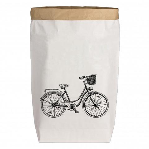 Paperbags Large weiss, FAHRRAD, dunkelgrau