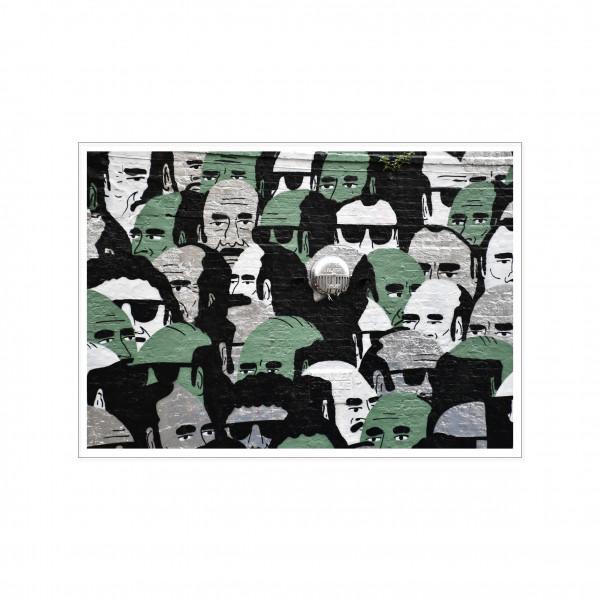 Postkarte quer, Streetart, CROWD