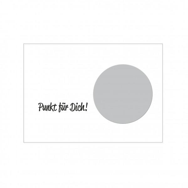 Postkarte quer, PUNKT FÜR DICH! mit Heißfolienprägung in silber