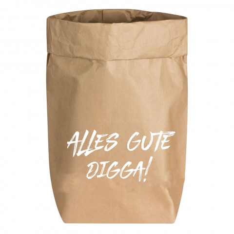 Paperbags Small natur, ALLES GUTE DIGGA!, weiß