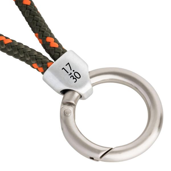 Schlüsselband Klabauter (Ø 6MM) S, Tampen OLIV-ORANGE