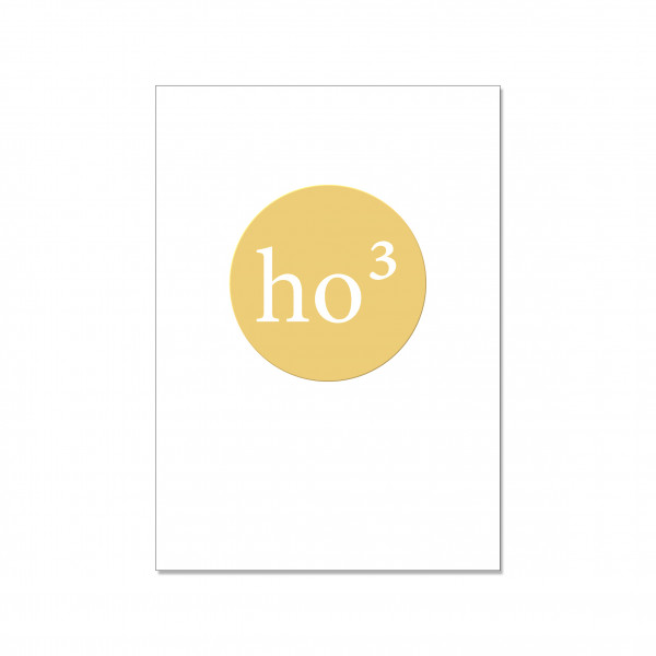 Postkarte hoch, ho3mit Heißfolie veredelt