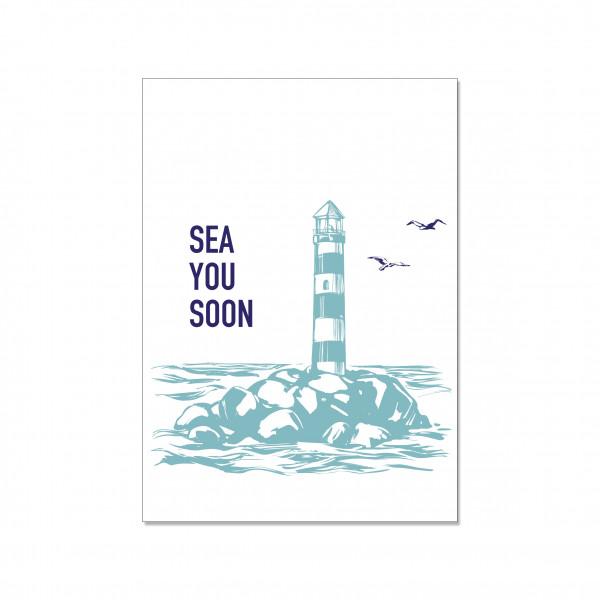 Postkarte hoch, SEA YOU SOON!