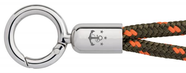 Schlüsselband Skipper (Ø 6MM) S, Tampen OLIV-ORANGE