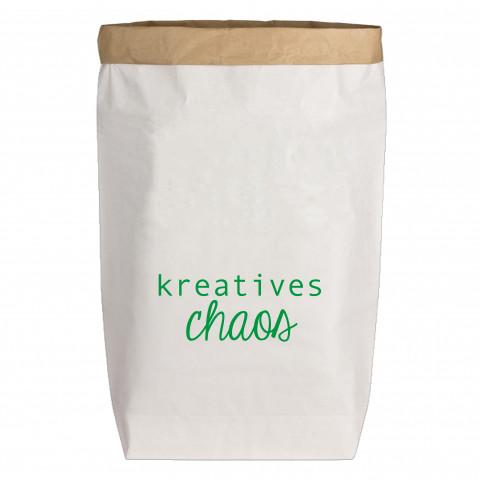 Paperbags Large weiss, KREATIVES CHAOS, grün