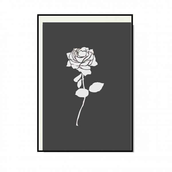 Faltkarte hoch, ROSE mit Lackveredelung