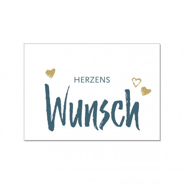 Postkarte quer, HERZENSWUNSCH