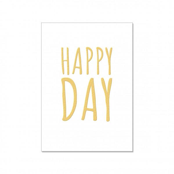 Postkarte hoch, HAPPY DAY