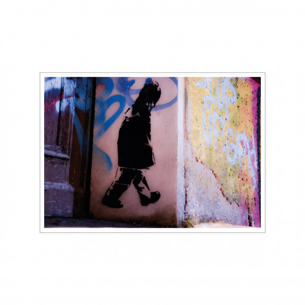 Postkarte quer, Streetart, SAD LITTLE BOY