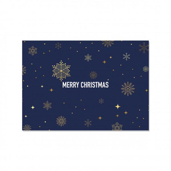 Postkarte quer, MERRY CHRISTMAS (BLUE NIGHT)
