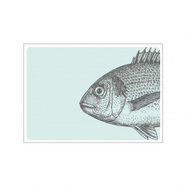 Postkarte quer, VINTAGE FISCH