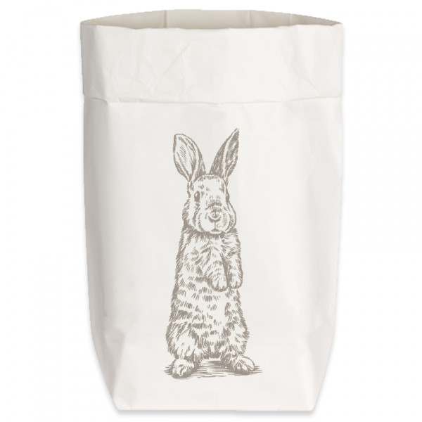 Paperbags Small weiss, HASE STEHEND