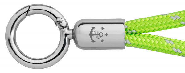 Schlüsselband Skipper (Ø 6MM) S, Tampen SIGNALGRÜN-GRAU