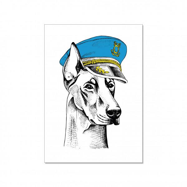 Postkarte hoch, CAPTAIN DOG