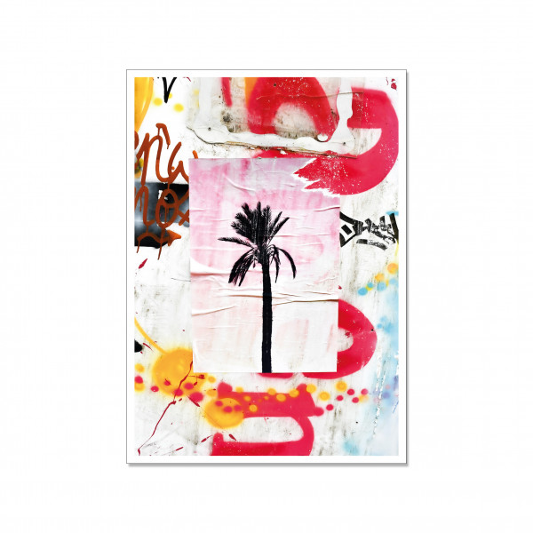 Postkarte hoch, Streetart, BLACK PALM