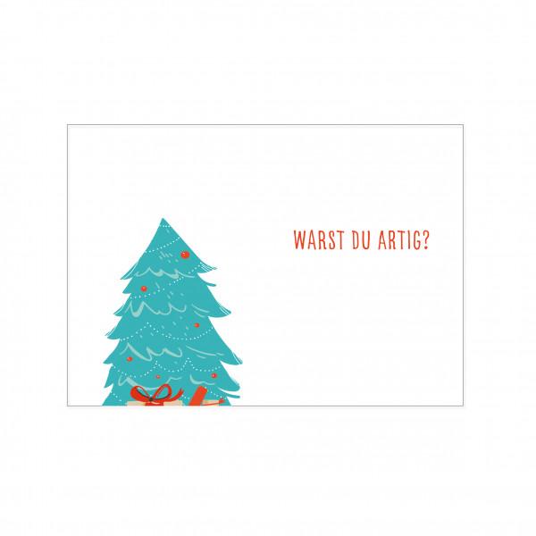 Postkarte quer, WARST DU ARTIG