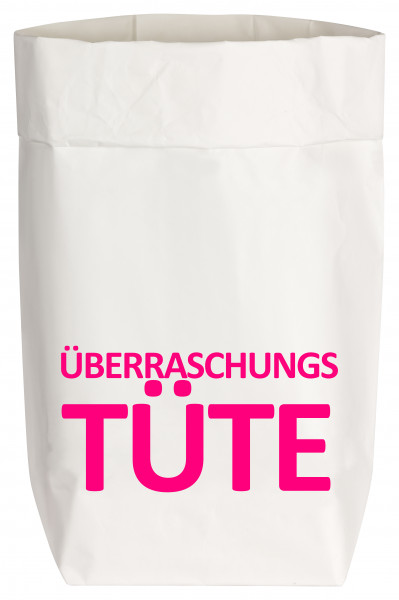 Paperbags Small weiss, ÜBERRASCHUNGSTÜTE, neon pink