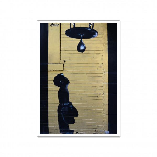 Postkarte hoch, Streetart, LITTLE FIGHTER