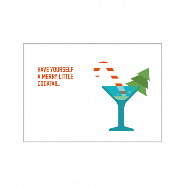 Postkarte quer, HAVE YOURSELF A MERRY LITTLE COCKTAIL