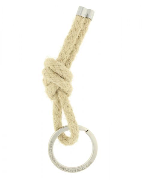 Schlüsselanhänger Knoten - NATUR