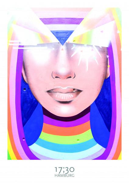 Poster A3 (29,7 x 42cm), RAINBOW WOMAN