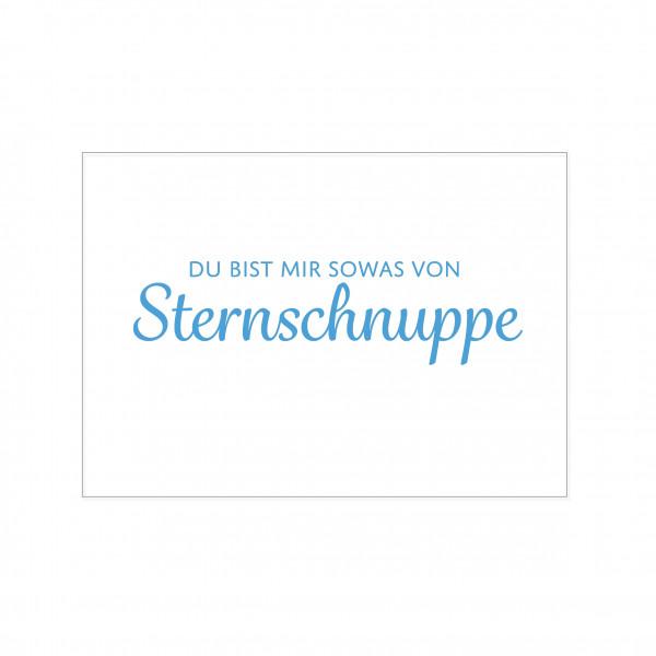 Postkarte quer, DU BIST MIR SOWAS VON Sternschnuppe