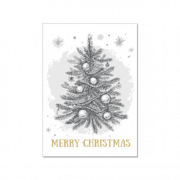 Postkarte hoch, MERRY CHRISTMAS